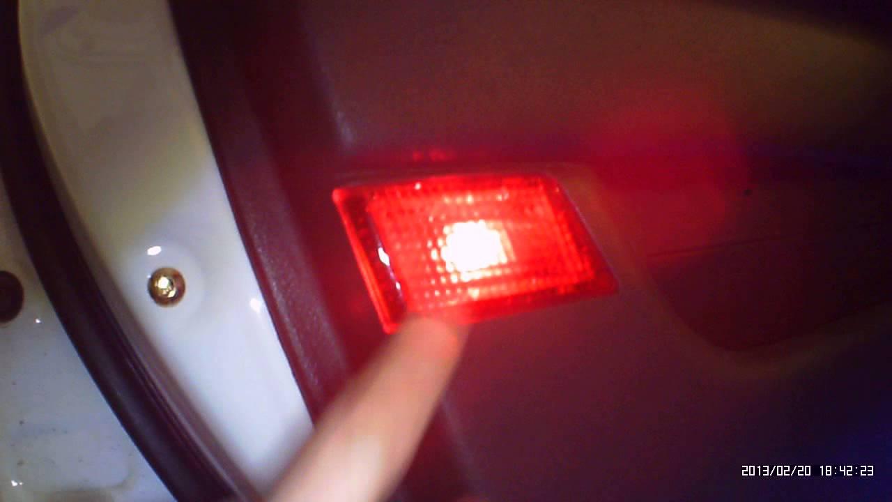 LED подсветка дверей на Lifan Solano