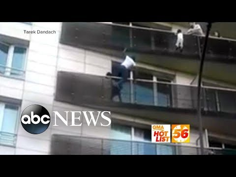 'GMA' Hot List: Man scales apartment building in France to rescue dangling toddler