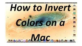 How Invert Colours Mac