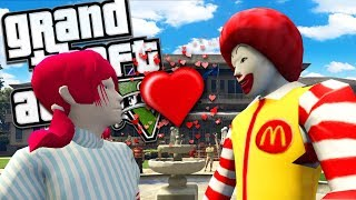 RONALD MCDONALD AND THE WENDYS GIRL GET MARRIED MOD (GTA 5 PC Mods Gameplay)