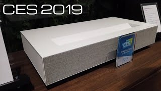 LG Laser 4K Ultra short throw Projector CES 2019