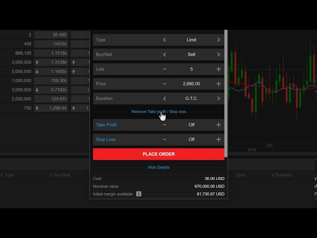 Placing a Futures Trade from Watchlist in ELANA Global Trader