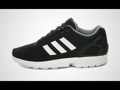 quality design 401f7 fa805 zx flux adidas black and white