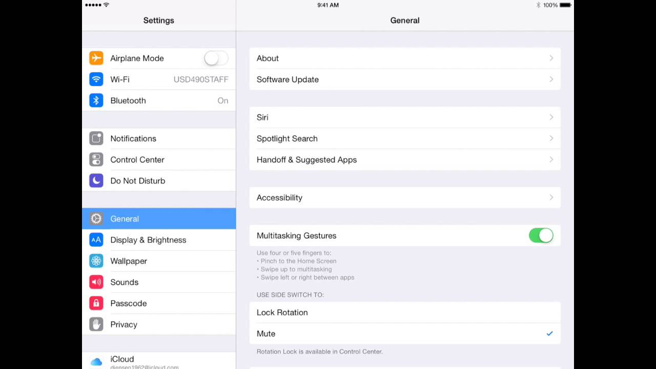 how to change default apple id on ipad 2