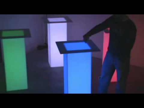 How To Make Diy Lighted Wedding Columns.Light Up Tables And Led Columns Demonstration Wmv