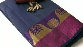 New Trend Latest Collections of Tussar Silk Sarees Woven & Zari Work With Price Of 1100