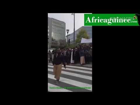 Tueries à Conakry : des guinéens manifestent à Bruxelles