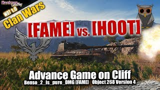 WoT CW: [FAME] vs. [HOOT], spannendes Advance-Spiel auf Cliff,  WORLD OF TANKS