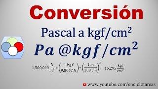Convertir de Pascal a kgf/cm2