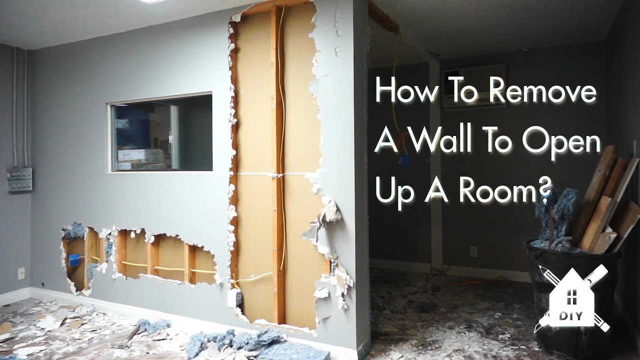 How To Remove A Wall To Open Up A Room In Your Home Diy Youtube