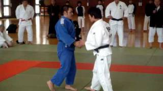 Judo Koshino Tadanori sensei performs the traditonal Japanese Budo