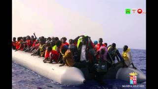 Mare Nostrum - Marina Militare Italiana - SAR 590 migranti Soccorsi ieri - www.HTO.tv