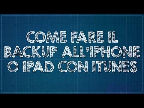 Come fare il backup all'iPhone/iPad con iTunes