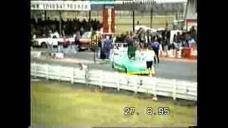 The INFAMOUS Barry Sheavils in a CRASH !!!!!   Summer Nationals 1995
