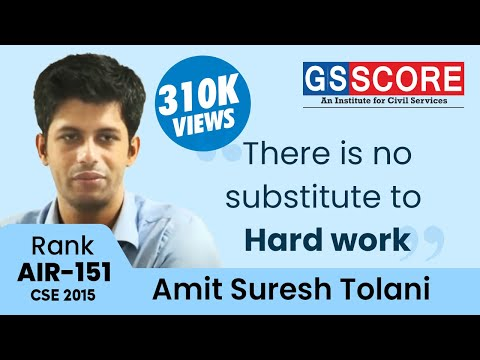 Importance of Prelims by Amit Tolani: IAS Rank 151 in his 6th attempt