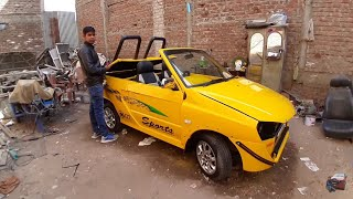 Modified maruti 800 to Yellow Sports car | MAGNETO11