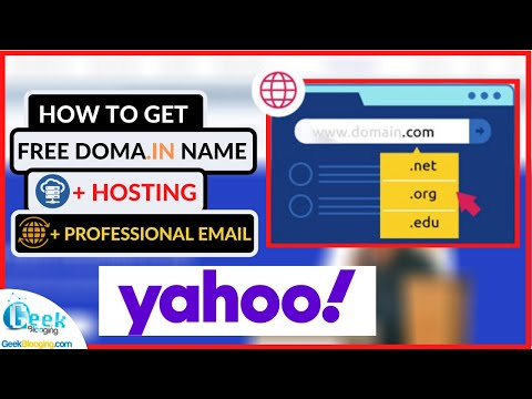 How to Get FREE (.com) Domain, Hosting and Business email | 💯 [FROM YAHOO]