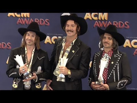 Midland Band at 53rd Academy of Country Music Awards Press Room Red carpet