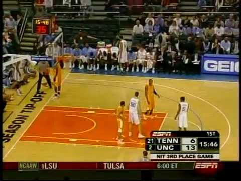 12.2.2006 - North Carolina 101 Tennessee 87  (NIT)