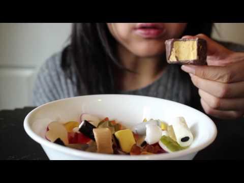 ASMR Eating: Haribo Candy-Rado and Honeycomb Chocolate (No Talking)