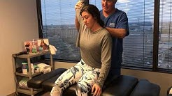 High School Softball Player's First Chiropractic Adjustment At Advanced Chiropractic Relief
