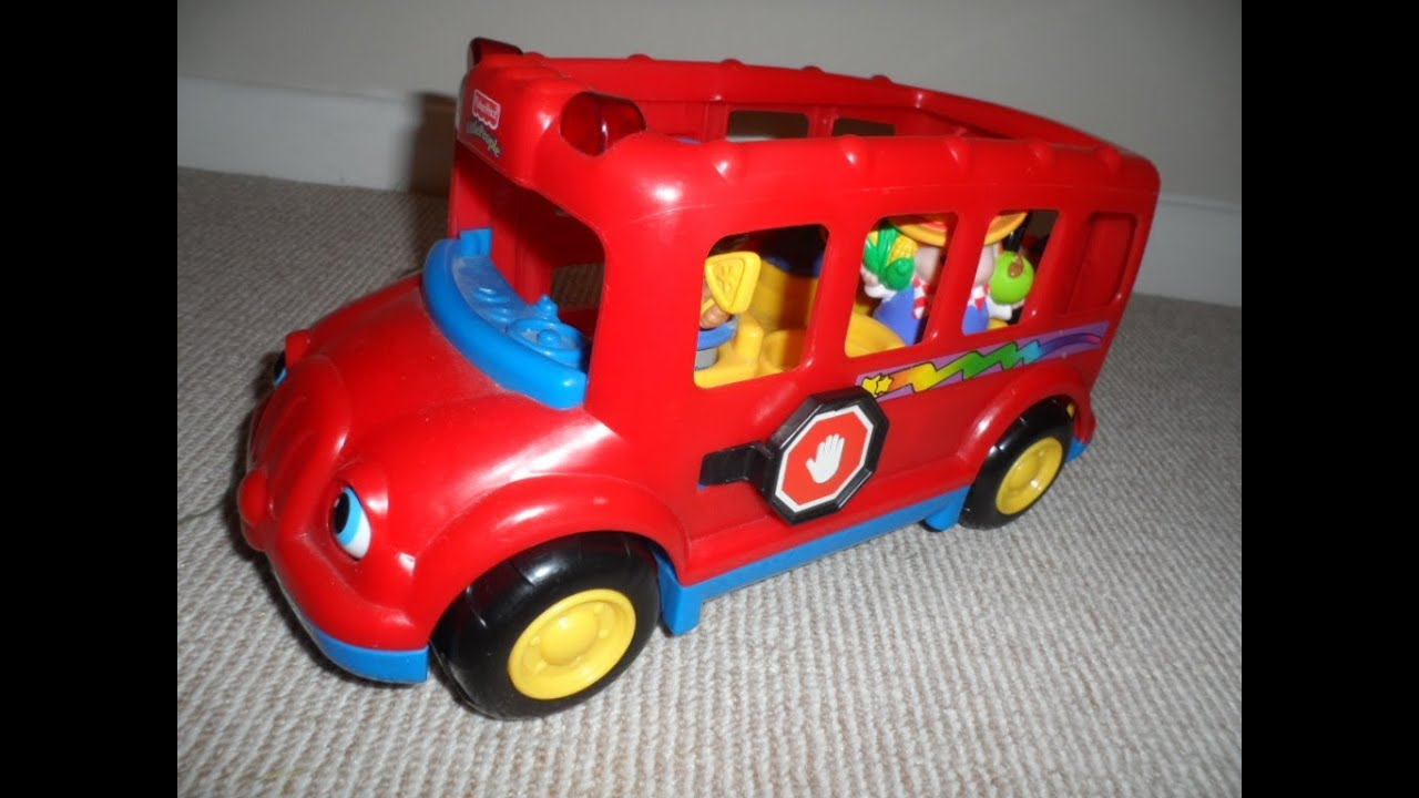 fisher price little people lil 39 movers rare red school bus. Black Bedroom Furniture Sets. Home Design Ideas