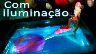 Como fazer piscina para bonecas barbie e Monster High - para suas novelas -  Artes da Erlania