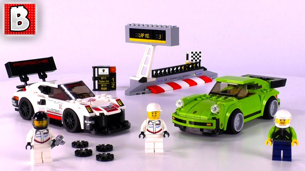 lego 75888 porsche 911 rsr and 911 turbo 3 0 speed champions 2018 set review youtube. Black Bedroom Furniture Sets. Home Design Ideas