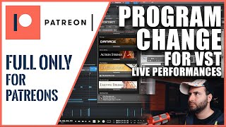 #6 - How to use VST Program Change in Studio One 4 for LIVE SESSION - Studio One Tutorial