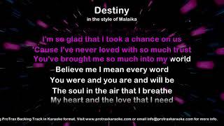 Destiny - ProTrax Karaoke Demo