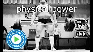 Physical Power - Daily EncourageMints