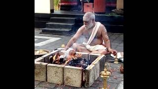 Mahaganapathi Homa performed by Kerala namboodiri priest.