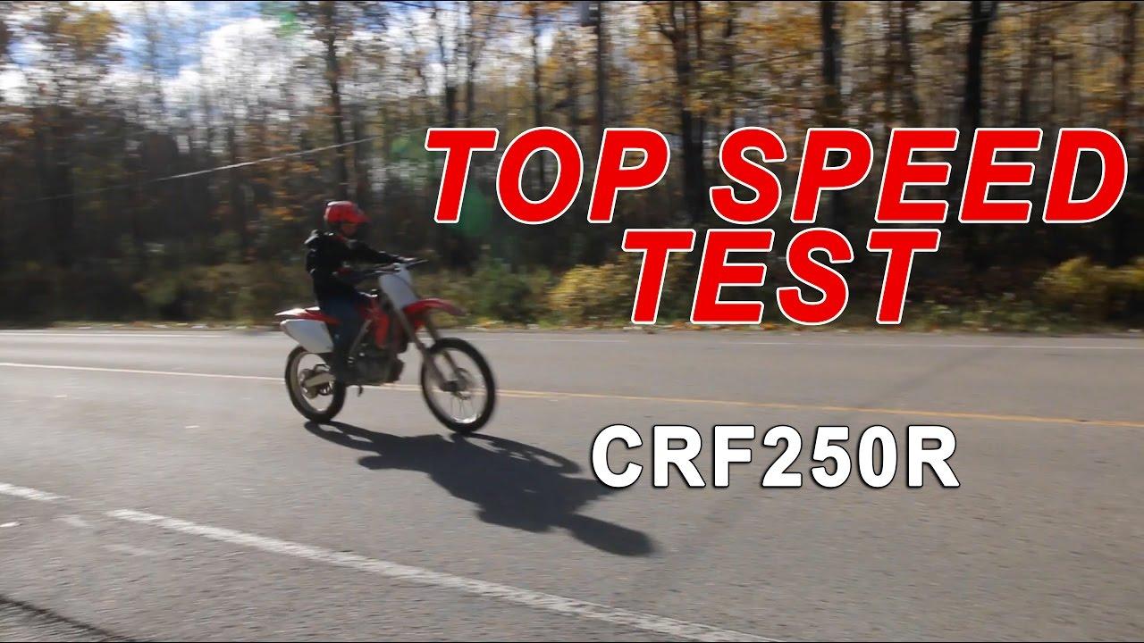2004 Honda CRF250R Top Speed Test (GPS VERIFIED)