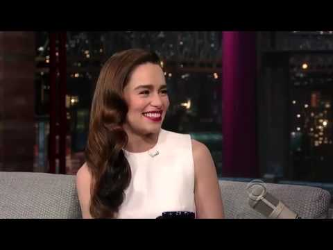 Emilia Clarke on David Letterman Kelly and Michael Peter Dinklage wins an Emmy