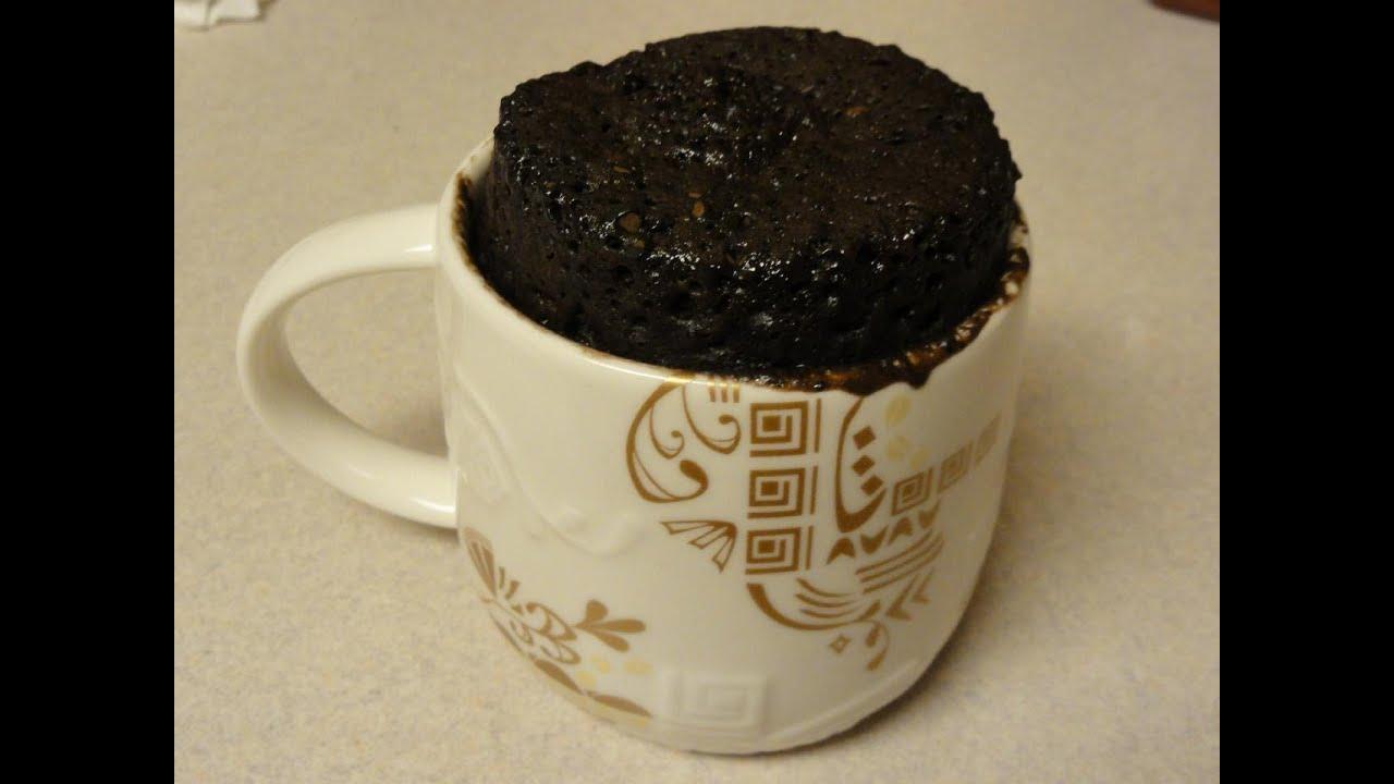 Chocolate Salted Caramel Cake In A Mug