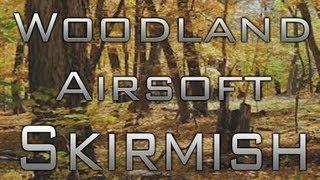airsoft woodland war skirmish saw 416 m4 jg stubby killer aks sog 68 and river crawl