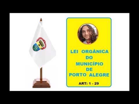 Lei Orgânica do Município de Porto Alegre ART 1-29