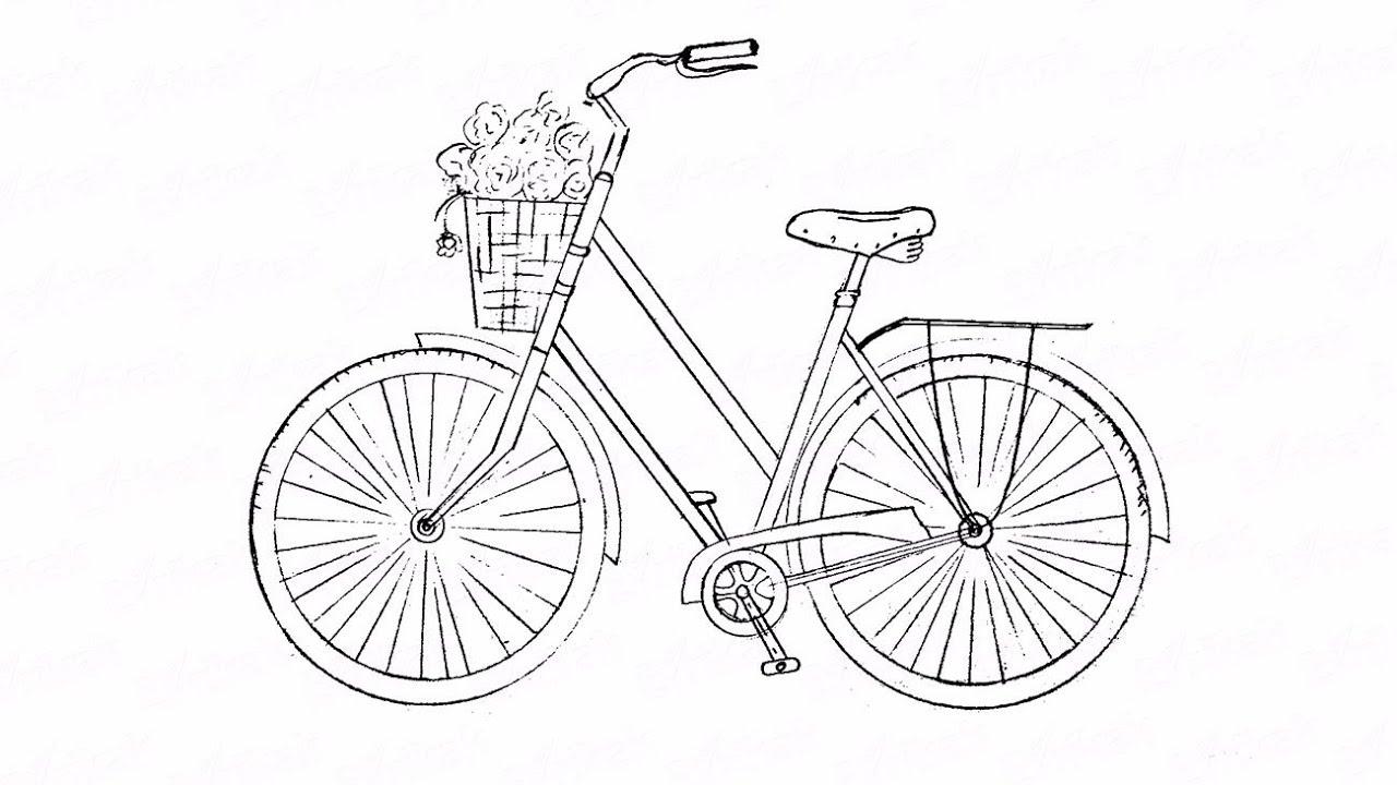сложились картинки велосипедиста карандашом поэтапно размер идеален