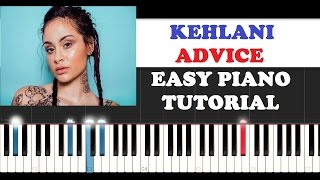 Kehlani - Advice (Easy Instrumental Piano Tutorial + FREE PIANO SHEET)