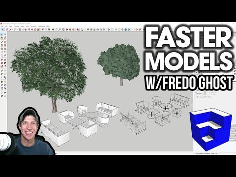 FASTER MODELS With FredoGhost - NEW Proxy Extension For SketchUp