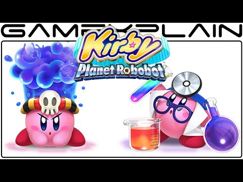 Kirby: Planet Robobot - New Copy Ability Gameplay (Doctor & Poison)