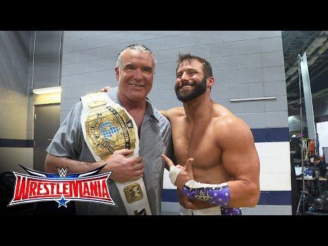 Zack Ryder celebrates his Intercontinental Title victory with Razor Ramon: WrestleMania 32 Exclusive