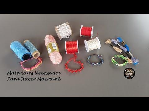 MATERIALES que necesito para hacer MACRAMÉ/Materials to make macrame
