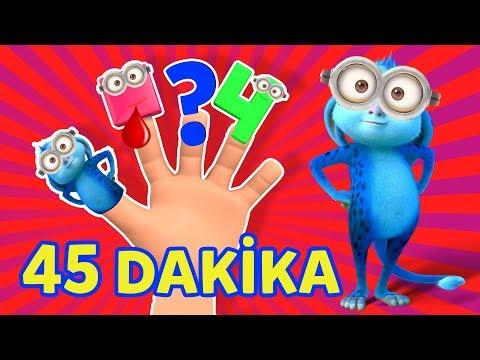 Parmak Ailesi Şarkısı, Finger Family Türkçe Söylenişi - KESİNTİSİZ TAM 45 DAKİKA animasyon izle
