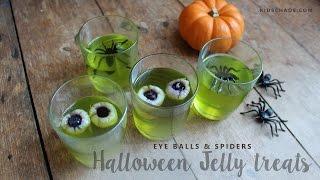 Halloween Party Treats - Jello Eyeballs (jelly)