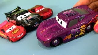 Cars 2 Purple Low and Slow McQueen Bug Mouth Lightning McQueen Chase Diecast Disney Pixar toys
