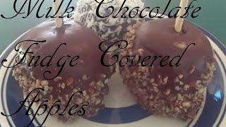 Milk Chocolate Fudge Covered Apples