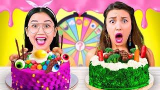CAKE DECORATING MUKBANG! Spin The Mystery Wheel FOOD CHALLENGE With Real Sound 4K ASMR BRAVO! 먹방 브라보