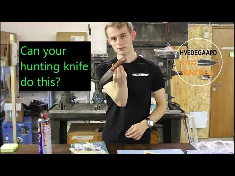 Hunting Knife Sharpness Test! - Can Your Hunting Knife Do This?