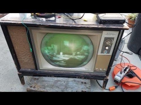 Wards Airline CTC 15 Ressurection Repair 1964 Color Television Roundie Pt1